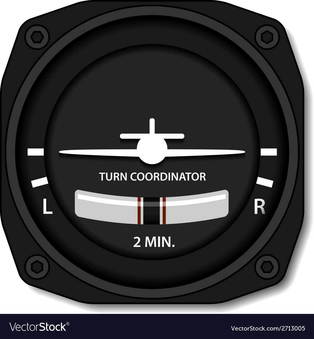 Aviation airplane turn balance indicator vector | Price: 1 Credit (USD $1)