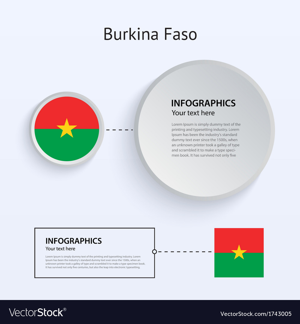 Burkina faso country set of banners vector | Price: 1 Credit (USD $1)