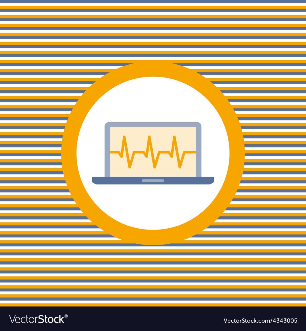 Car diagnostics computer color flat icon vector | Price: 1 Credit (USD $1)