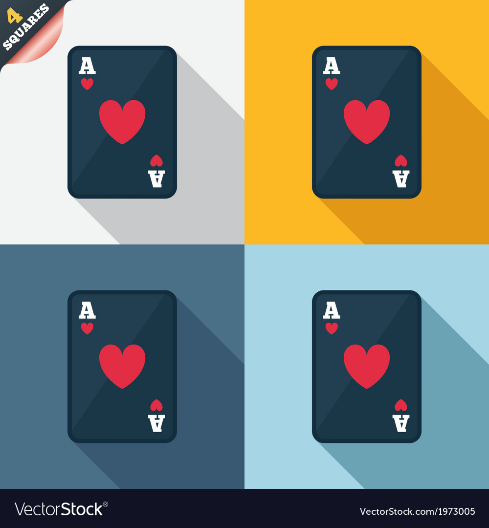 Casino sign icon playing card symbol vector | Price: 1 Credit (USD $1)