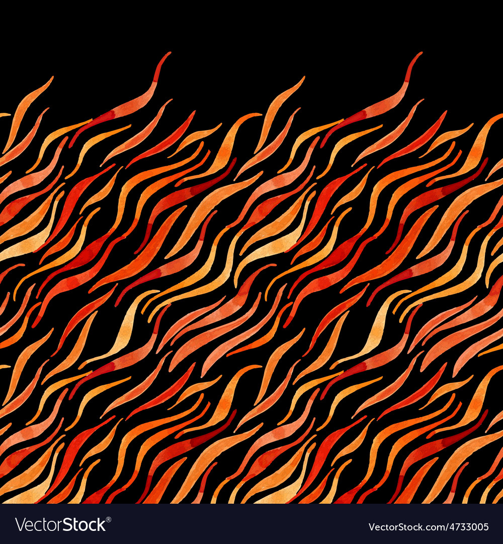 Fire flame watercolor seamless pattern-model for vector   Price: 1 Credit (USD $1)