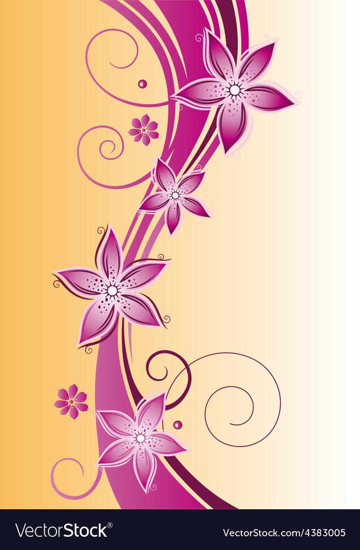 Flowers summer vector | Price: 1 Credit (USD $1)