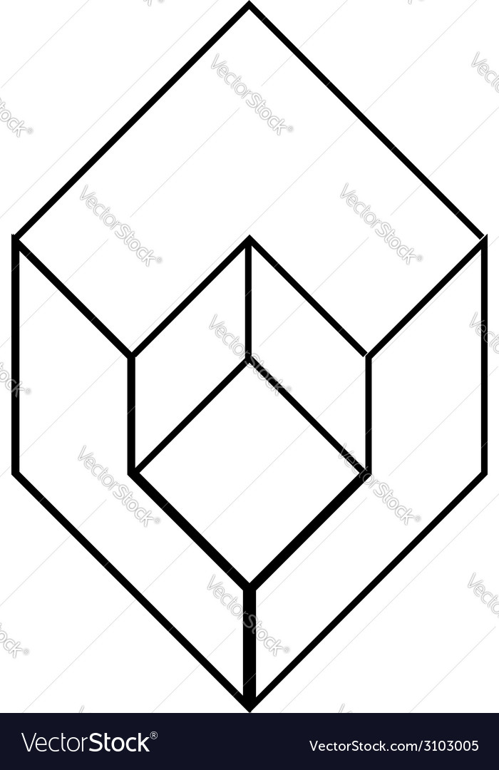 Isometric object- architectural logo vector | Price: 1 Credit (USD $1)