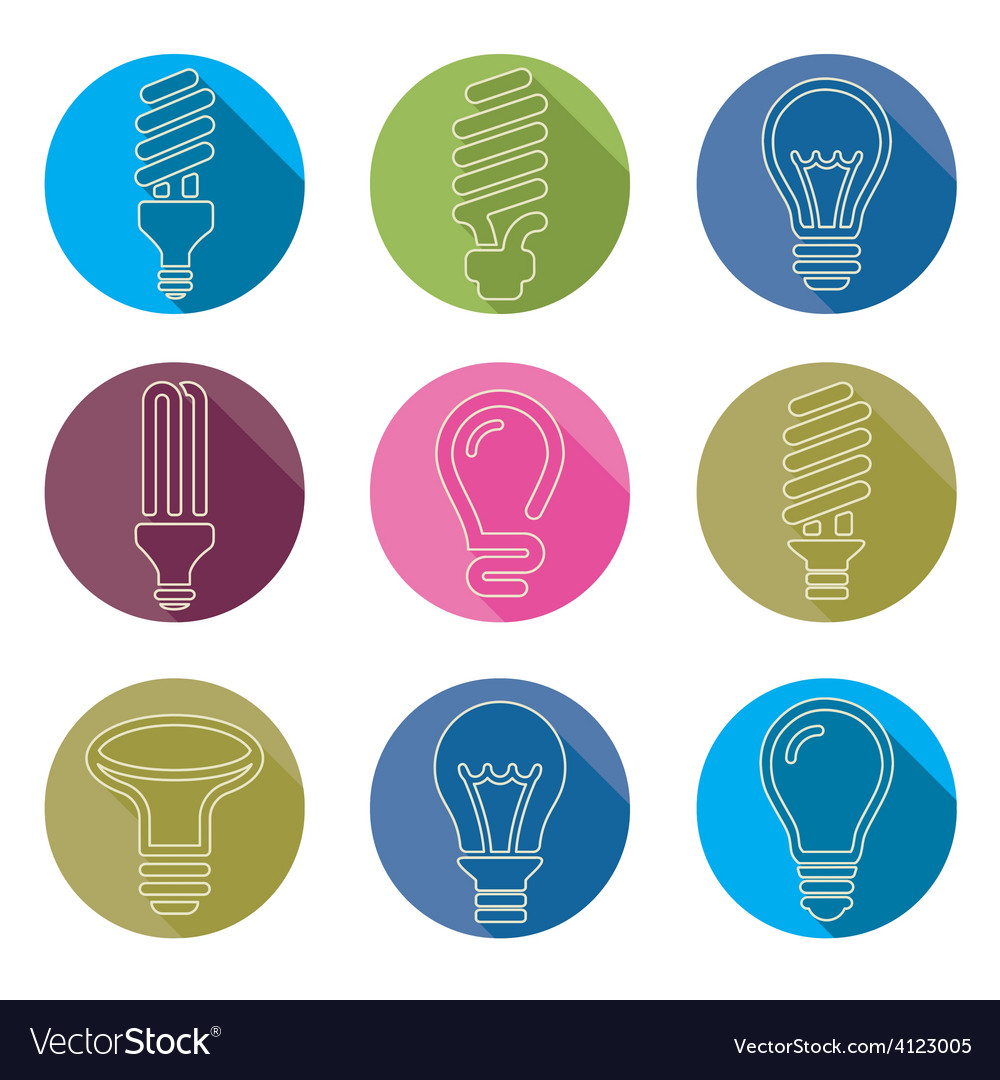 Light bulbs bulb icon set vector   Price: 1 Credit (USD $1)