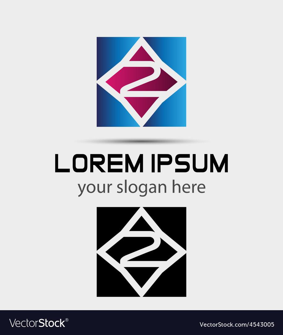 Number 2 logo logotype design vector   Price: 1 Credit (USD $1)