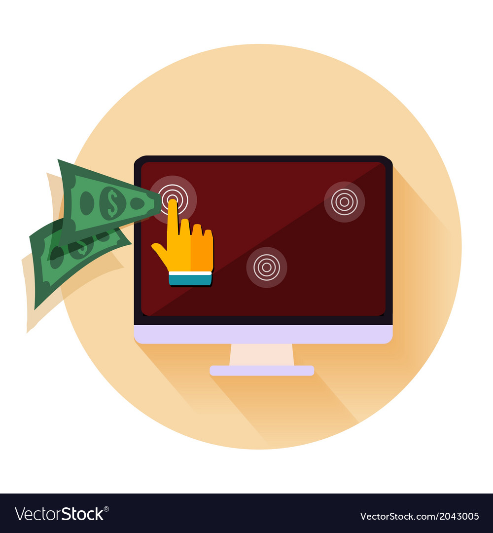 Pay per click internet advertising model when the vector   Price: 1 Credit (USD $1)