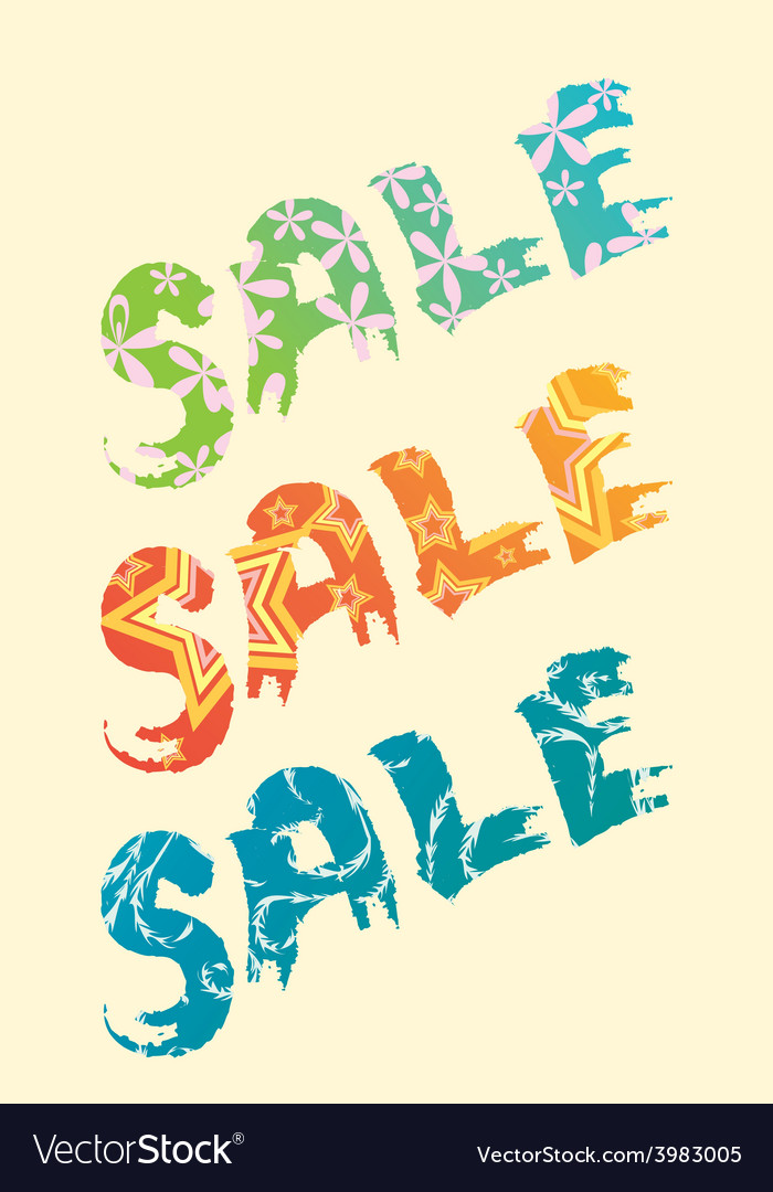 Sale title vector | Price: 1 Credit (USD $1)