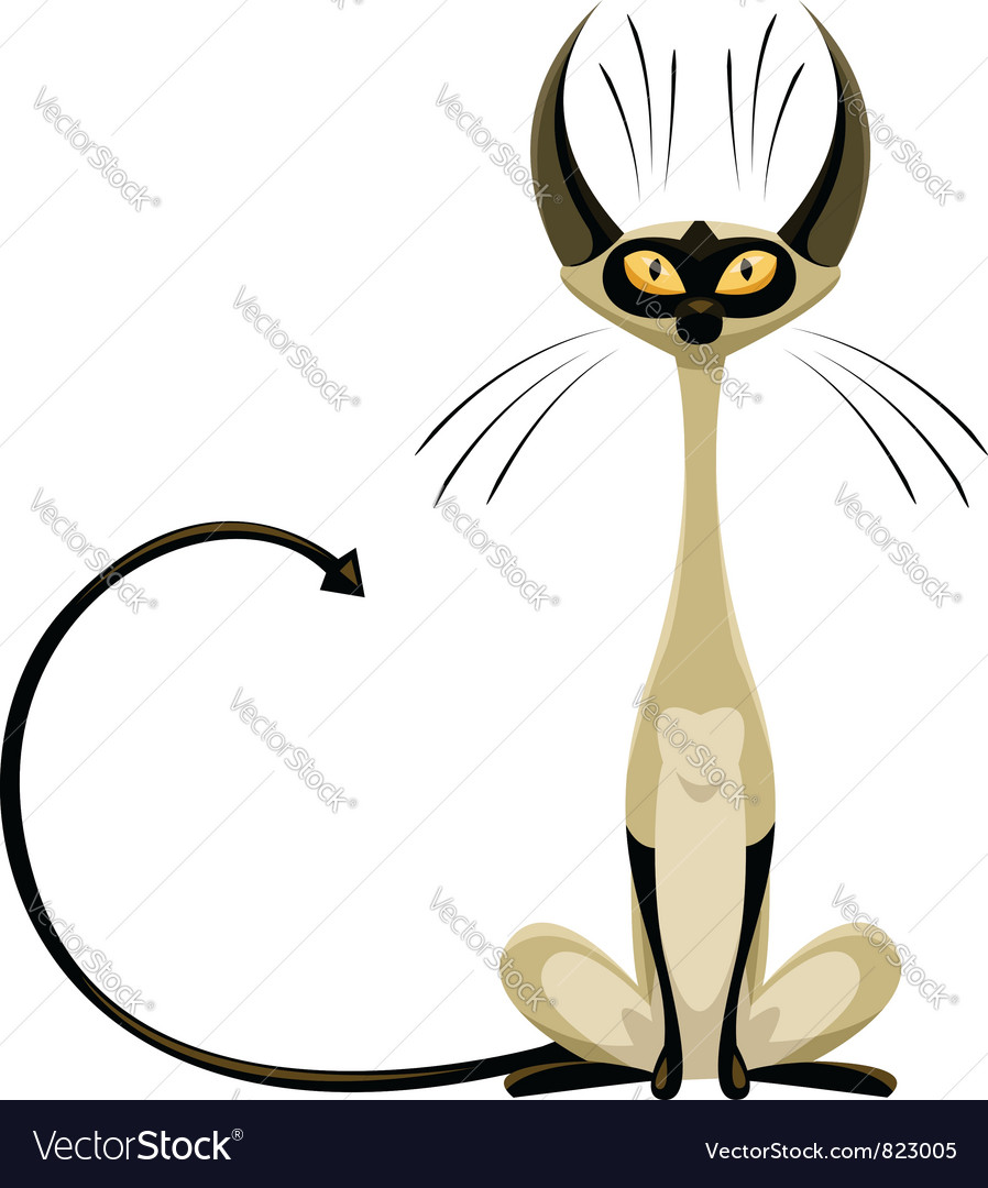 Siamese cat vector | Price: 3 Credit (USD $3)