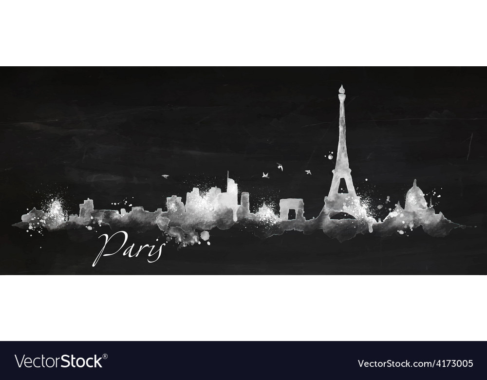 Silhouette chalk paris vector | Price: 3 Credit (USD $3)