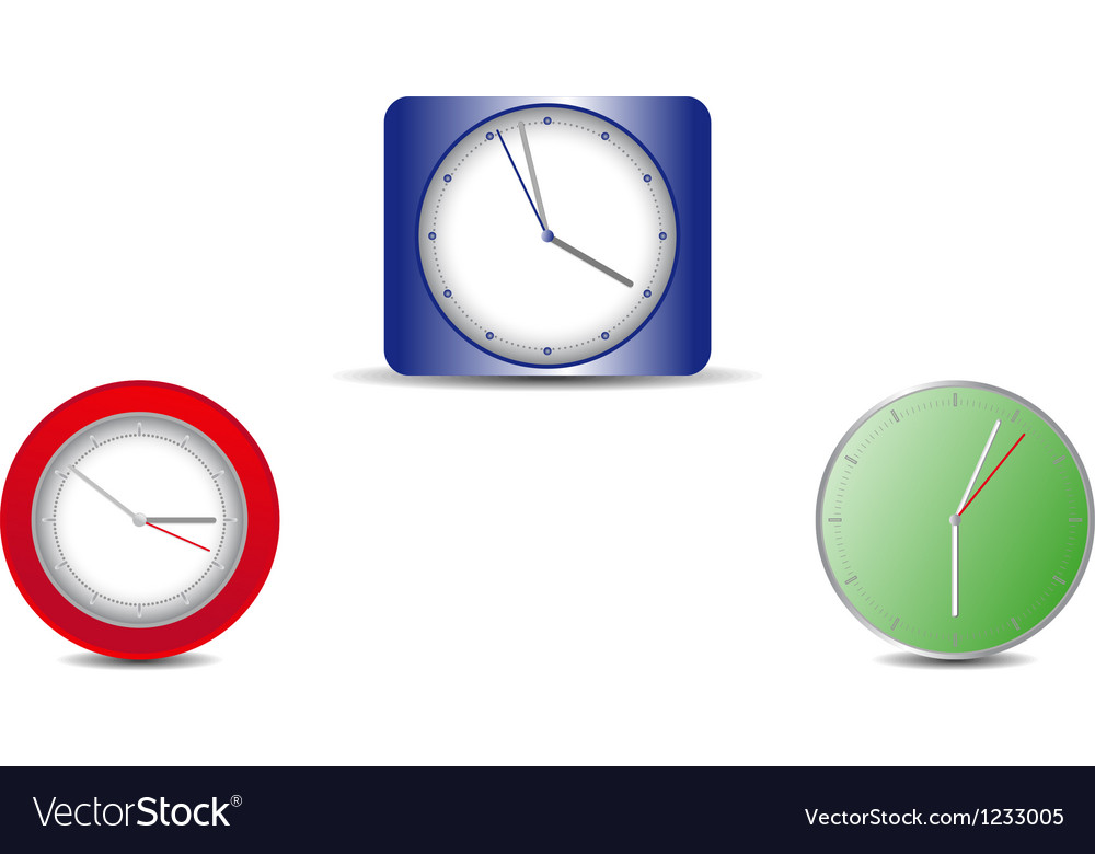 Simple web clock on a white background vector | Price: 1 Credit (USD $1)