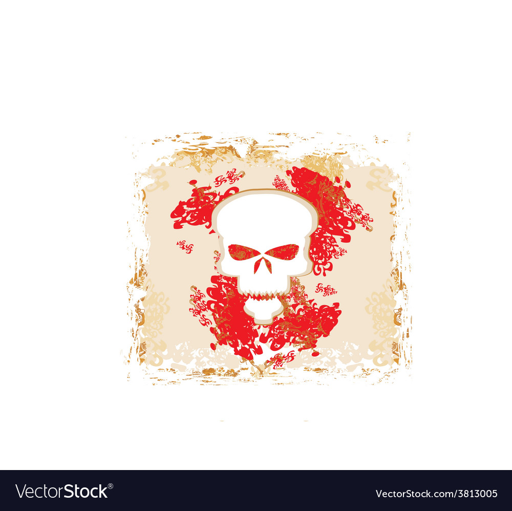 Skull and grunge background vector | Price: 1 Credit (USD $1)
