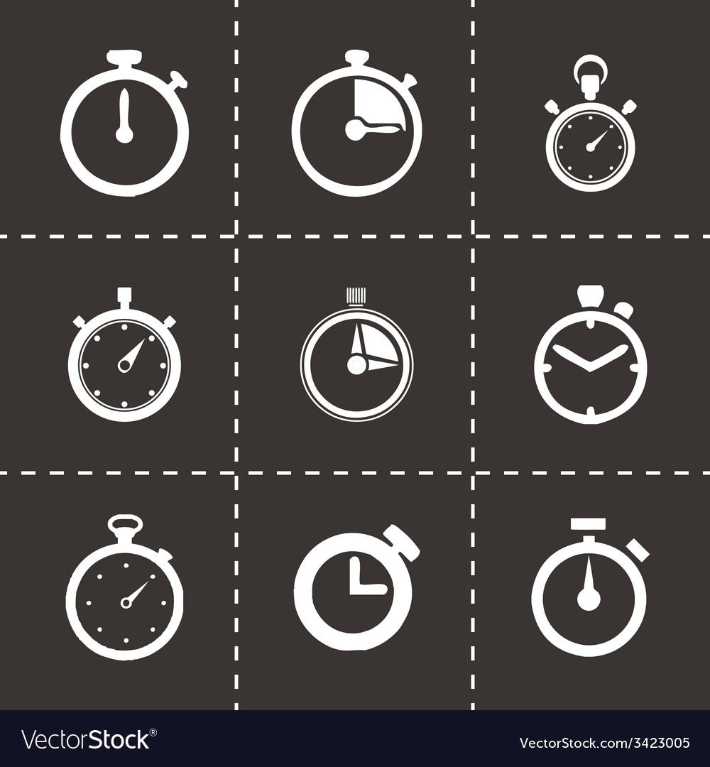 Stopwatch icon set vector   Price: 1 Credit (USD $1)