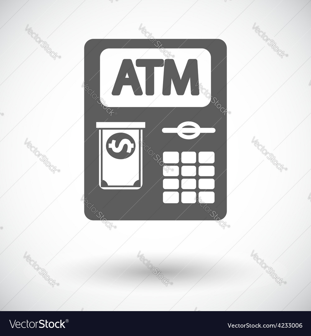Atm icon vector | Price: 1 Credit (USD $1)