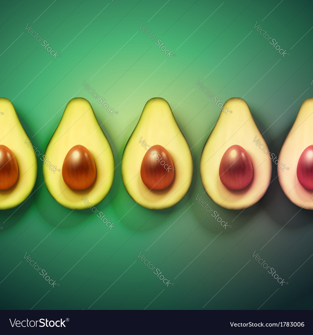 Background with avocado vector | Price: 1 Credit (USD $1)