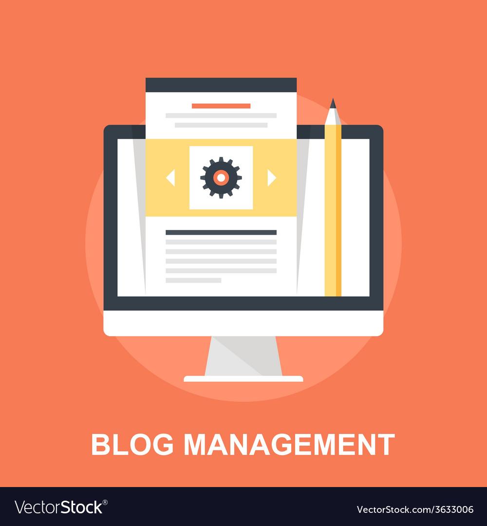 Blog management vector | Price: 1 Credit (USD $1)