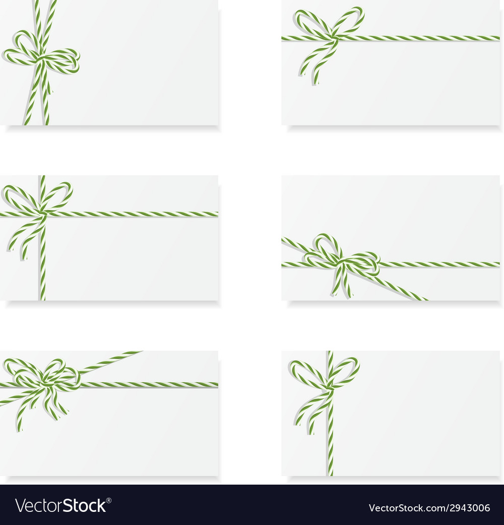 Card notes with gift bows vector   Price: 1 Credit (USD $1)