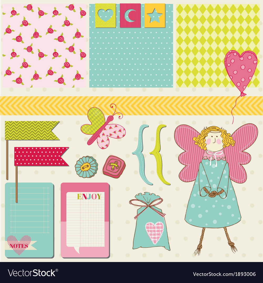 Design elements - baby birthday party set vector | Price: 1 Credit (USD $1)
