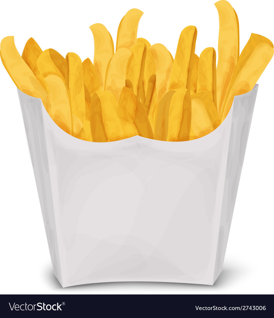 French fries isolated vector | Price: 1 Credit (USD $1)
