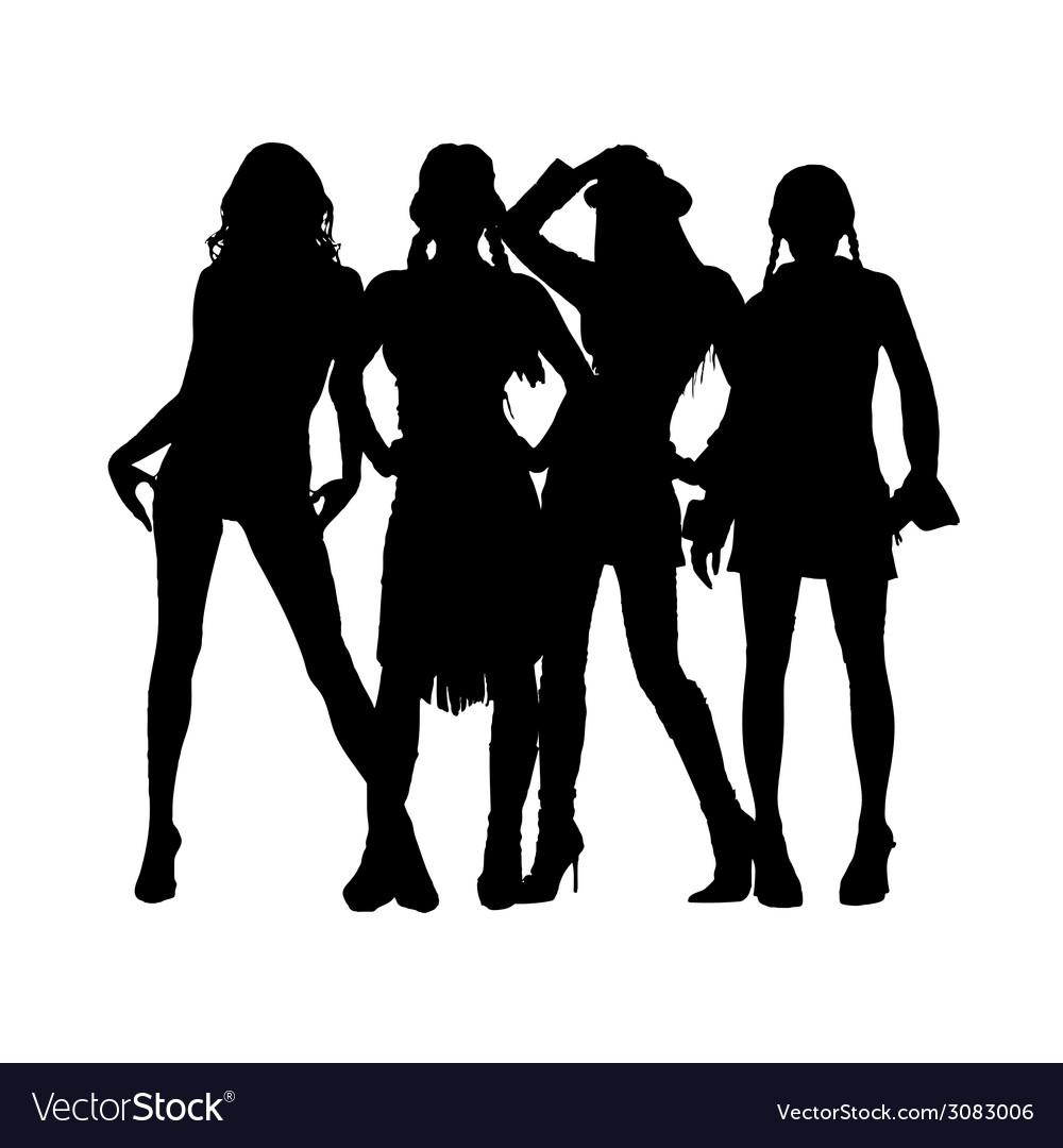 Girl black silhouette vector   Price: 1 Credit (USD $1)