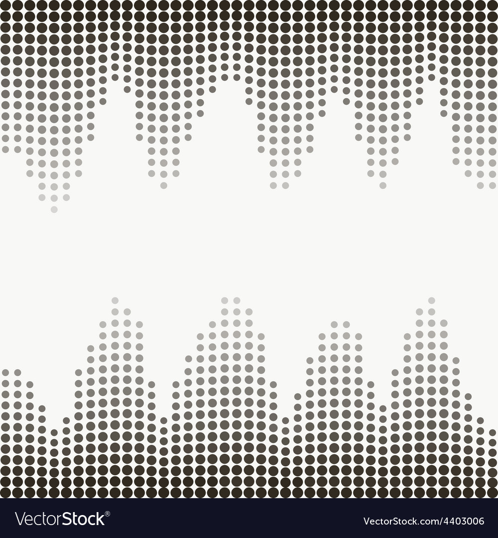 Halftone gray dots vector