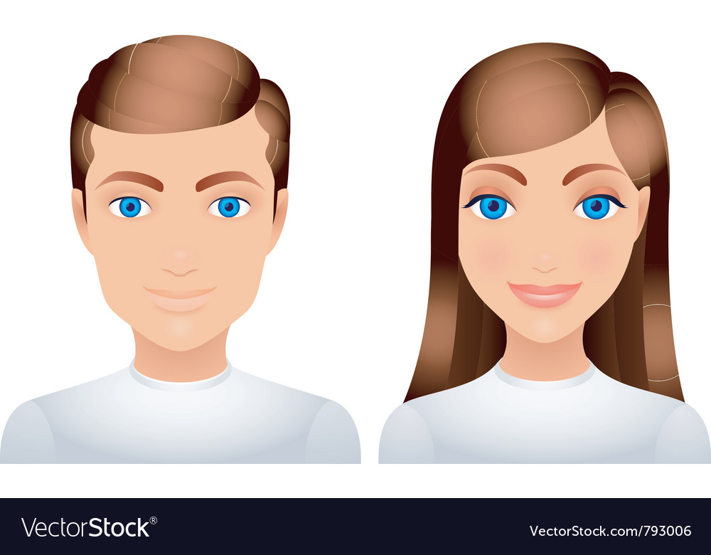 Man and woman vector | Price: 1 Credit (USD $1)