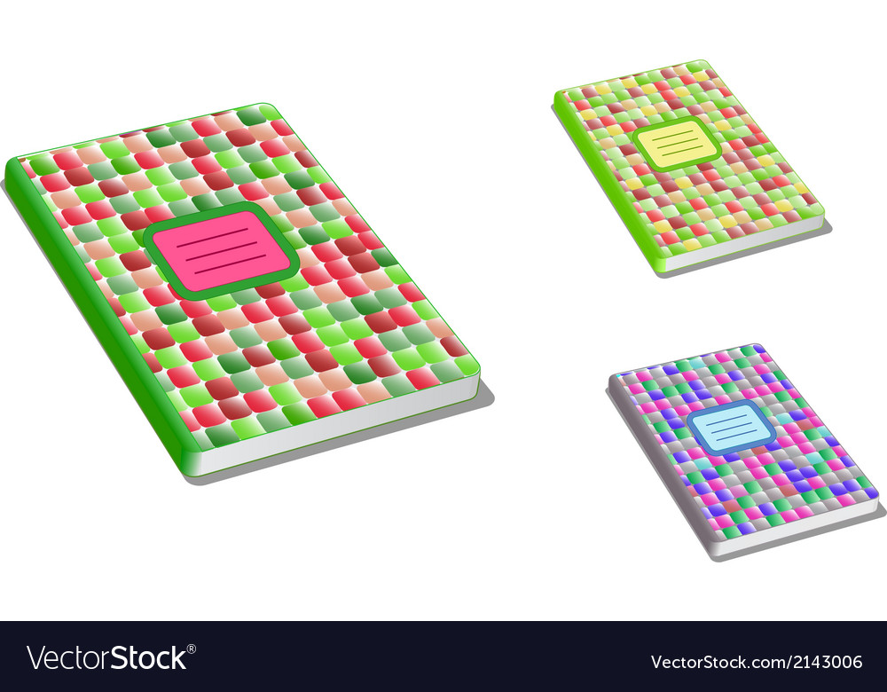 Pattern closed exercise book vector | Price: 1 Credit (USD $1)