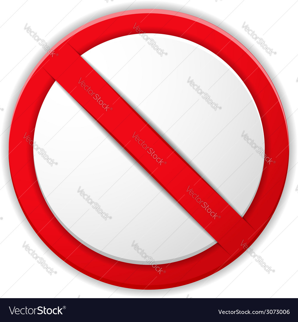 Prohibited sign vector | Price: 1 Credit (USD $1)