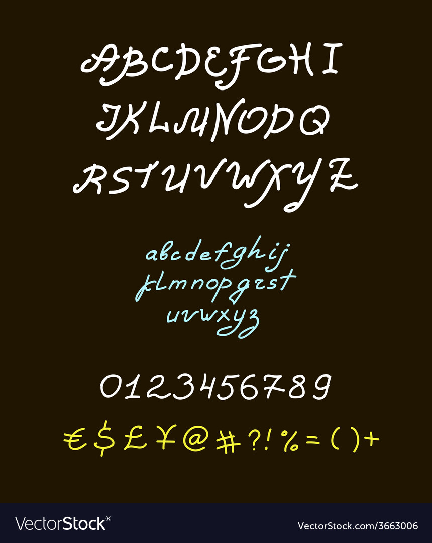 Retro brush script lettering font handwritten vector   Price: 1 Credit (USD $1)