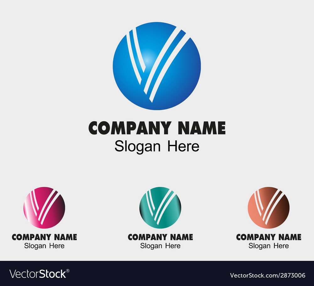 Sign the letter v branding corporate with circle s vector   Price: 1 Credit (USD $1)