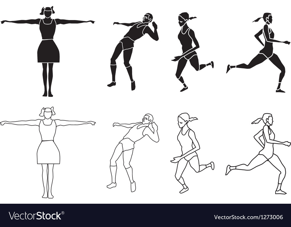Silhouette exercising vector | Price: 1 Credit (USD $1)
