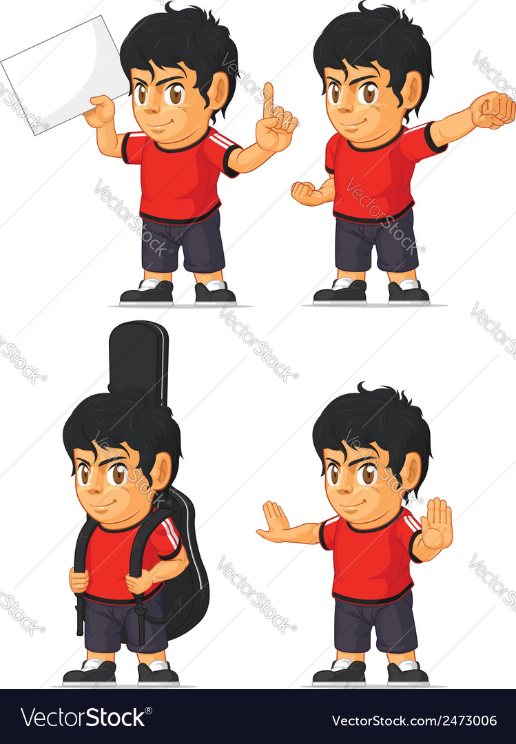 Soccer boy customizable mascot 10 vector | Price: 1 Credit (USD $1)