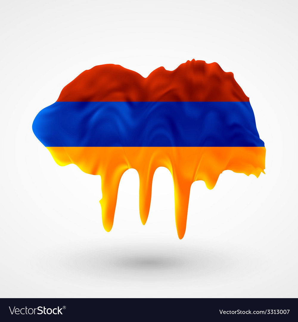 Armenian flag painted colors vector | Price: 1 Credit (USD $1)