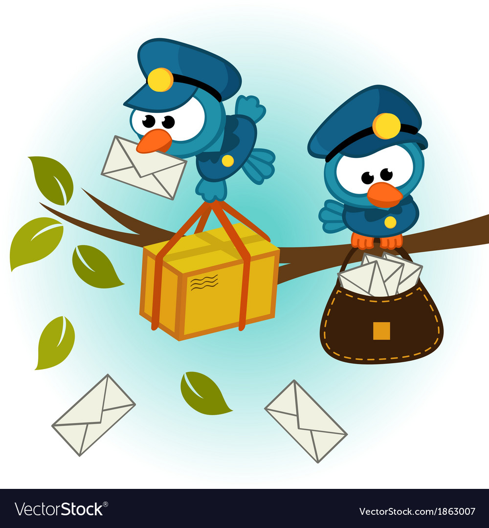 Bird postman vector | Price: 1 Credit (USD $1)