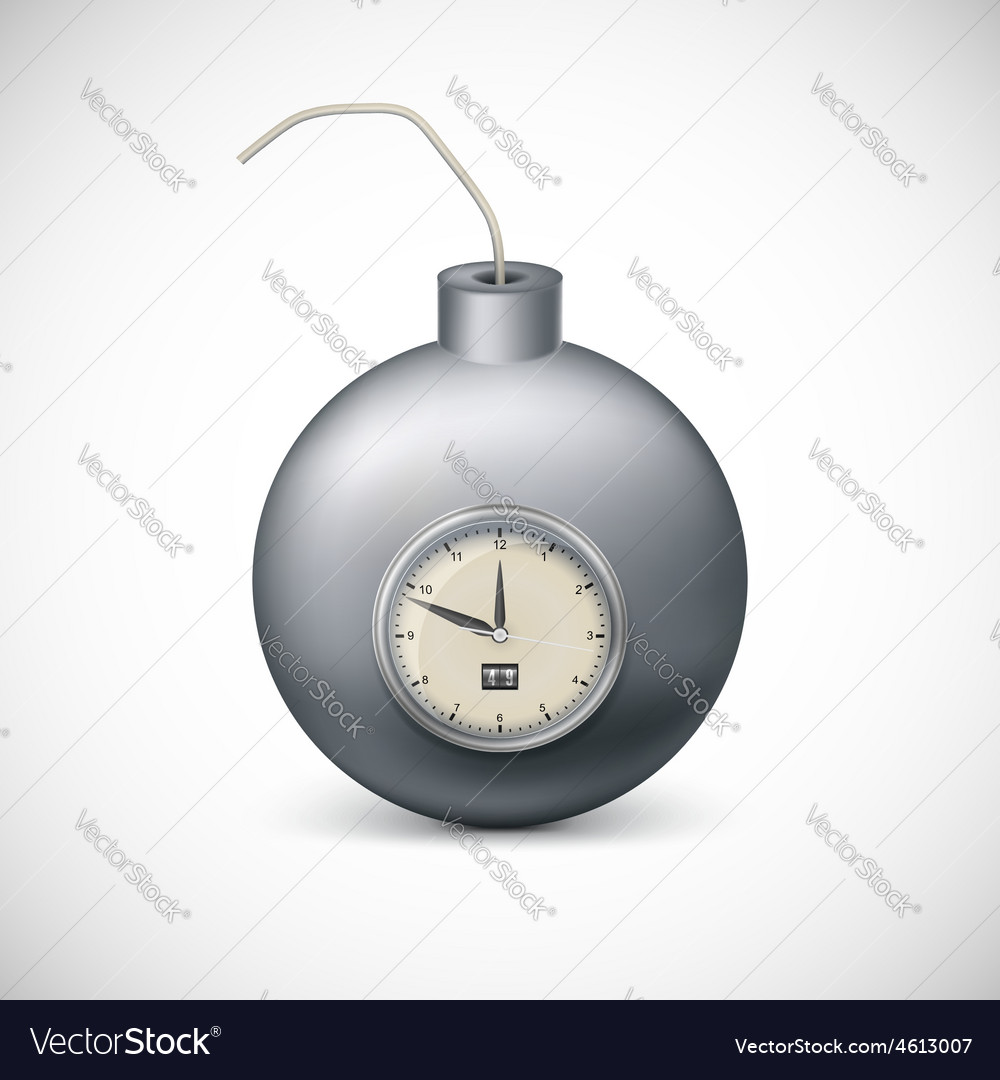 Bomb with clock vector | Price: 3 Credit (USD $3)