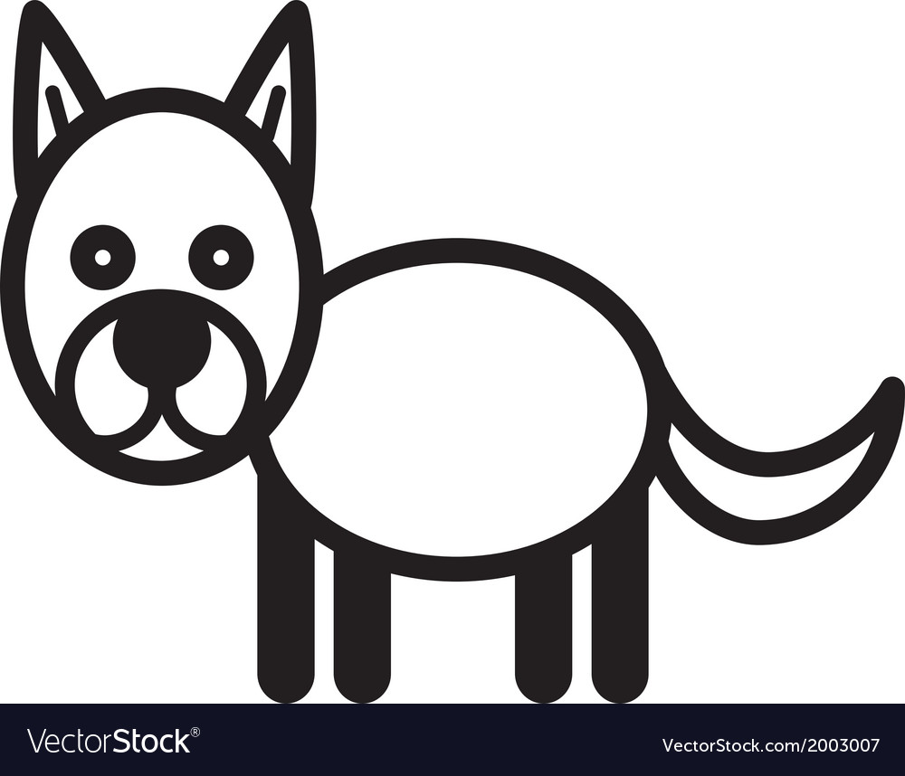 Cute animal dog - vector | Price: 1 Credit (USD $1)