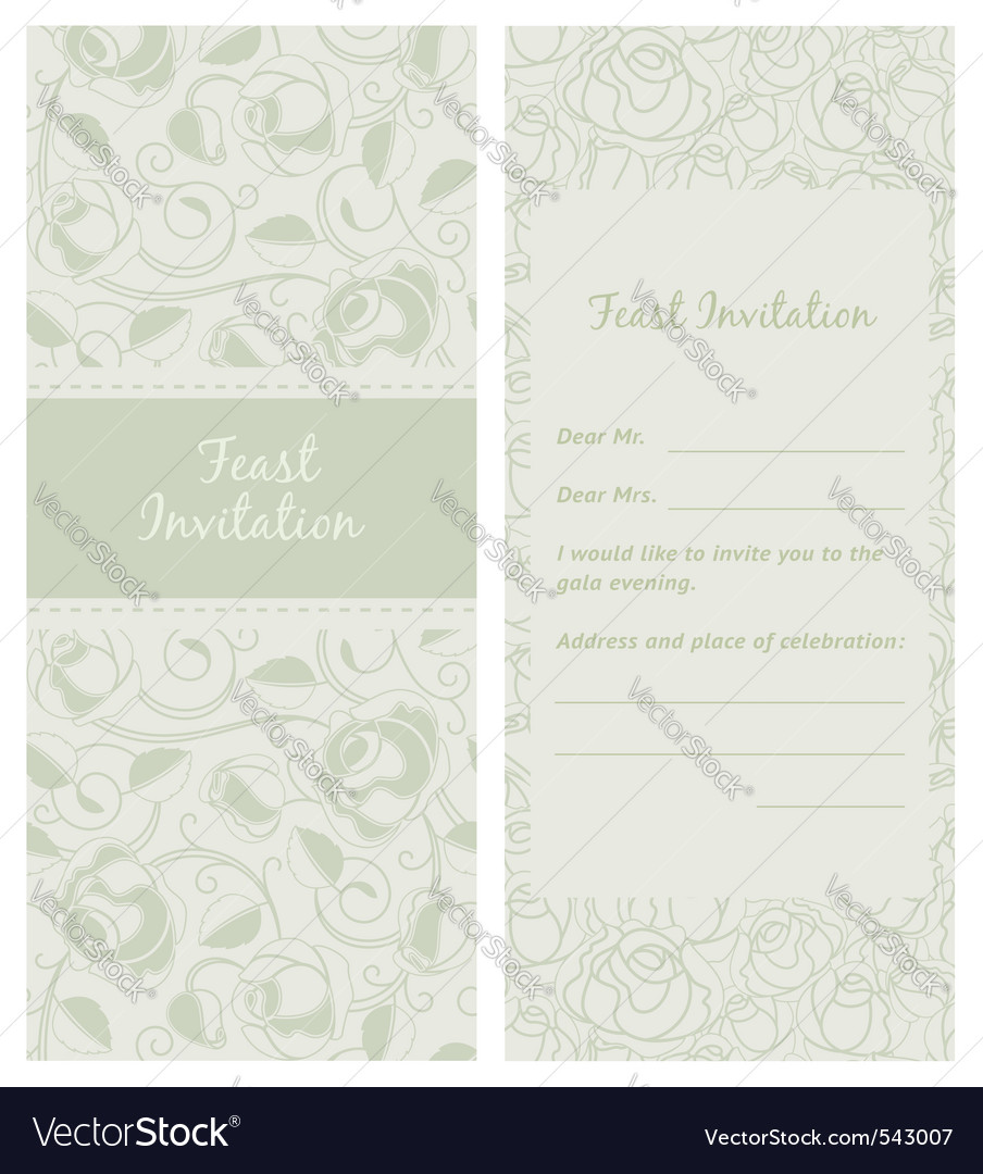 Feastinvitation backdrop vector | Price: 1 Credit (USD $1)