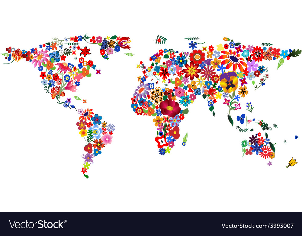 Globe flowers 380x400 vector | Price: 1 Credit (USD $1)