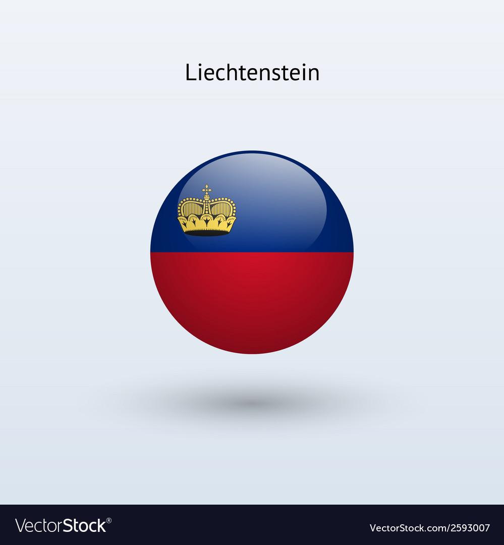 Liechtenstein round flag vector   Price: 1 Credit (USD $1)