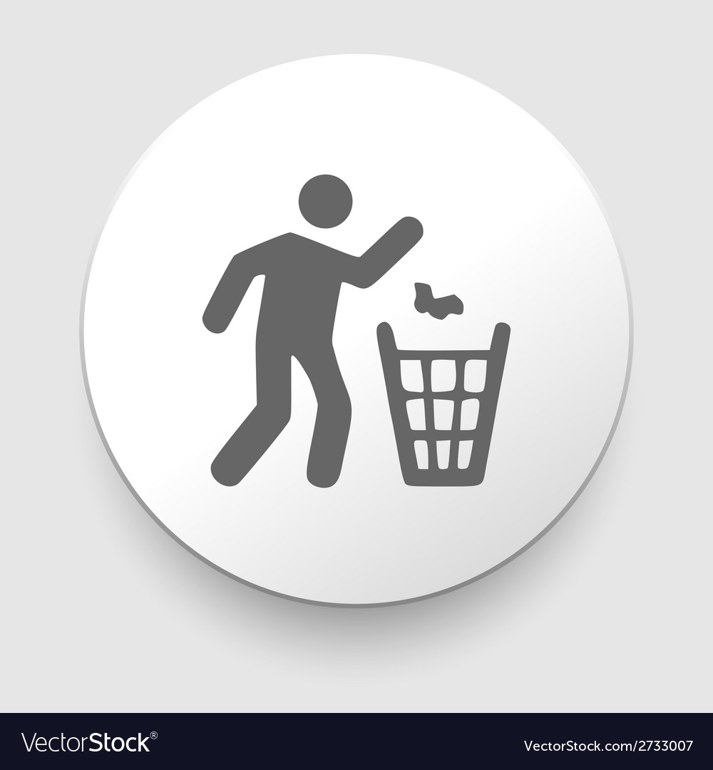 Man and recycled bin vector | Price: 1 Credit (USD $1)