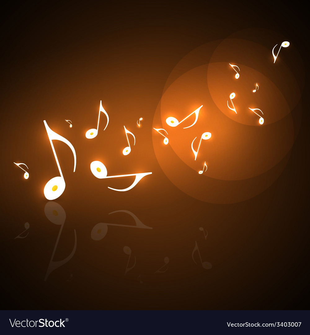 Musical background with flowing golden music notes vector   Price: 1 Credit (USD $1)