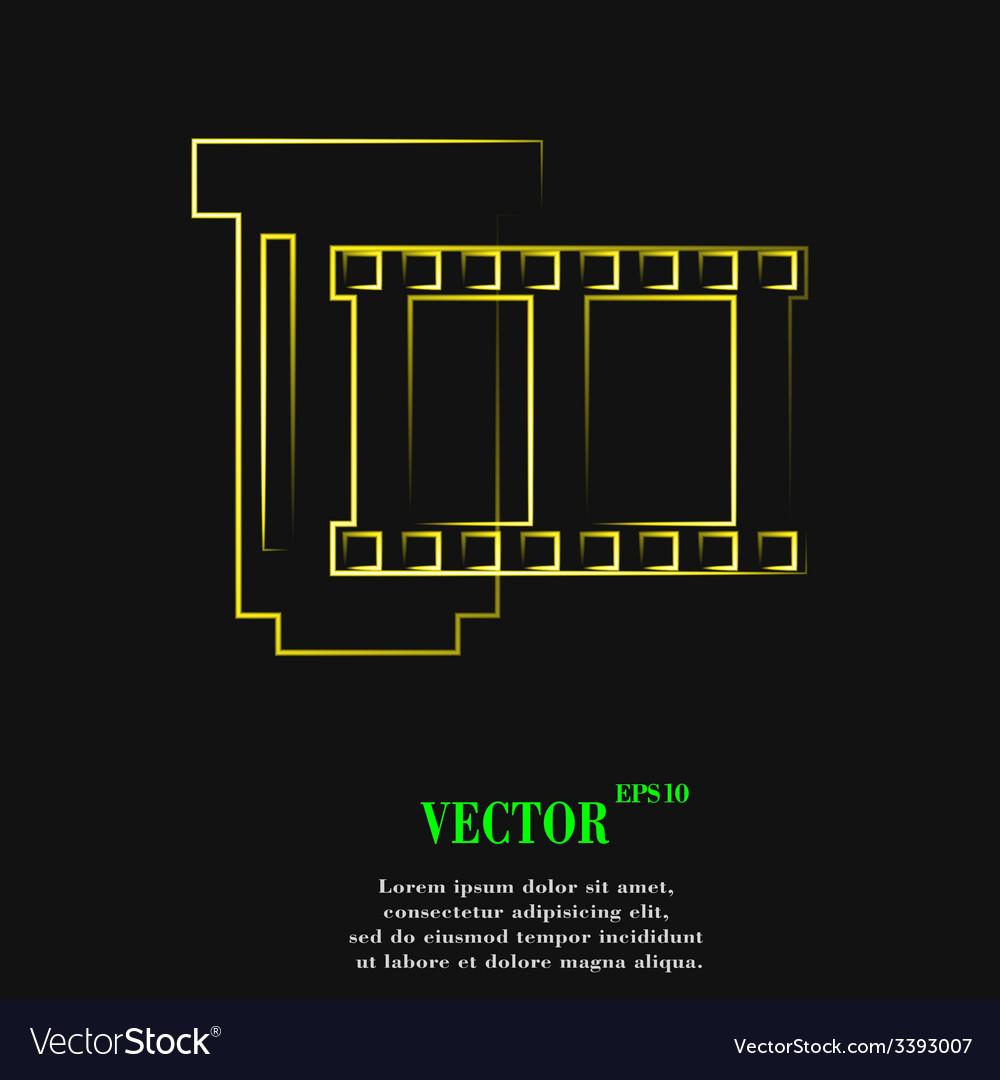 Negative films icon symbol flat modern web design vector   Price: 1 Credit (USD $1)