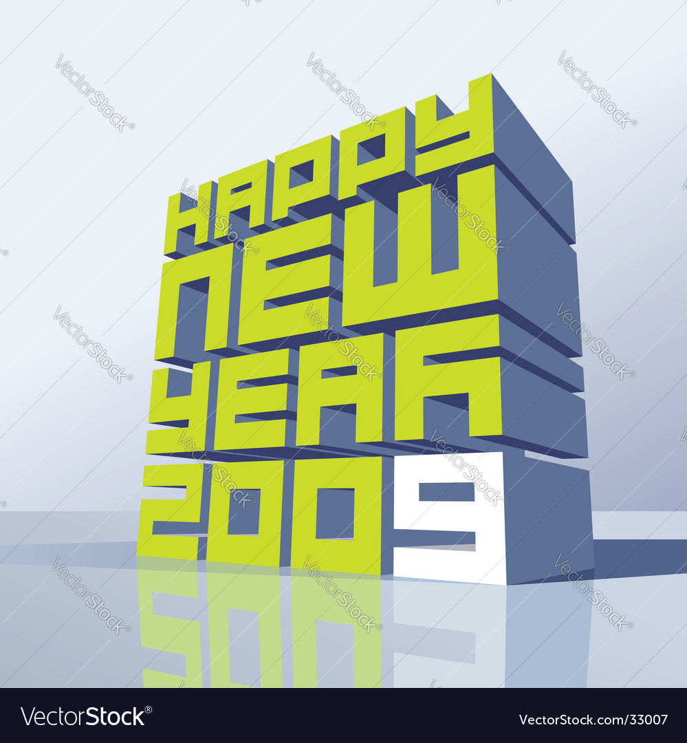 New year 2009 vector | Price: 1 Credit (USD $1)