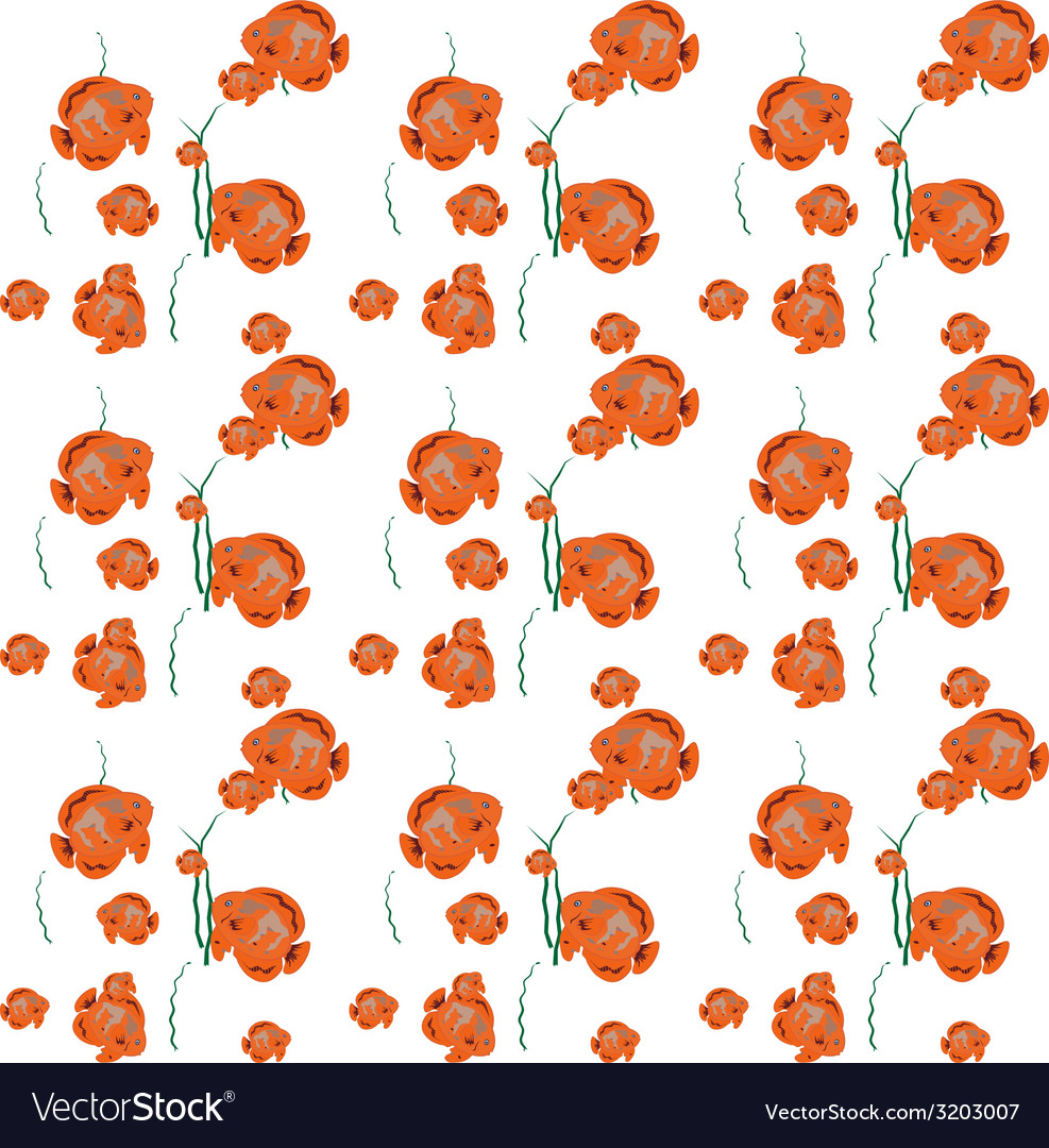 Orange fish seamless pattern  eps10 vector | Price: 1 Credit (USD $1)
