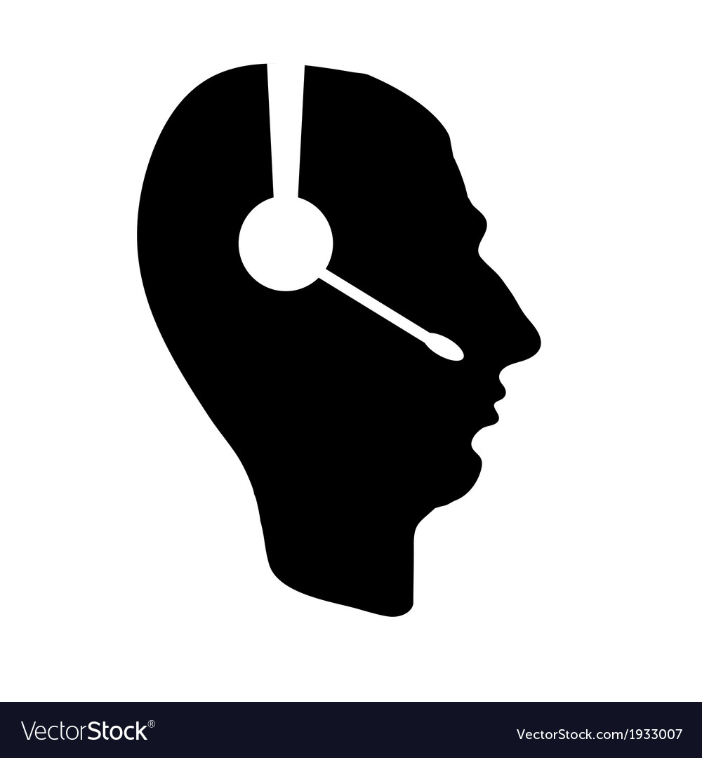 Profile of people with headphones business icon vector | Price: 1 Credit (USD $1)