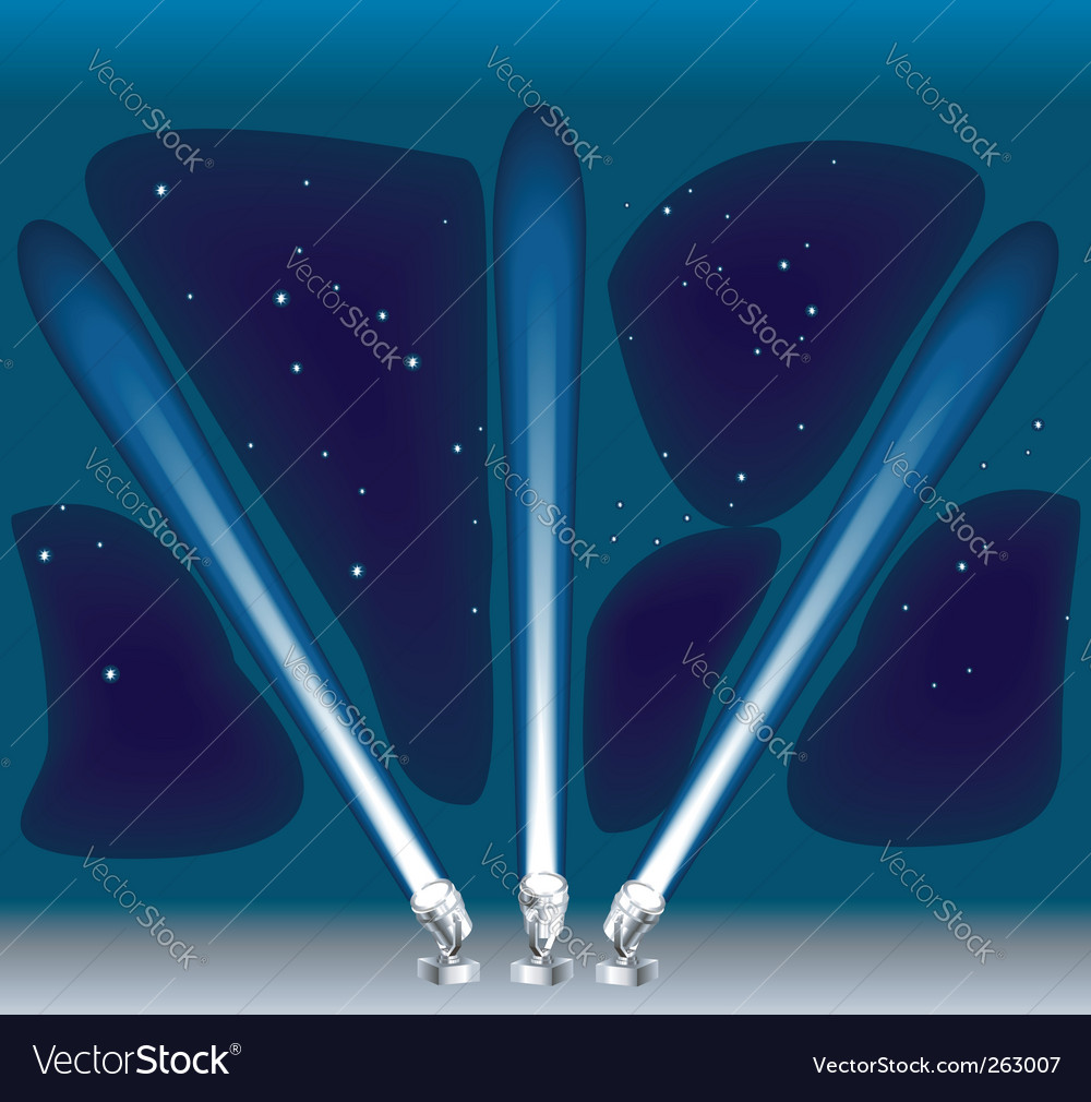 Searchlights vector | Price: 1 Credit (USD $1)