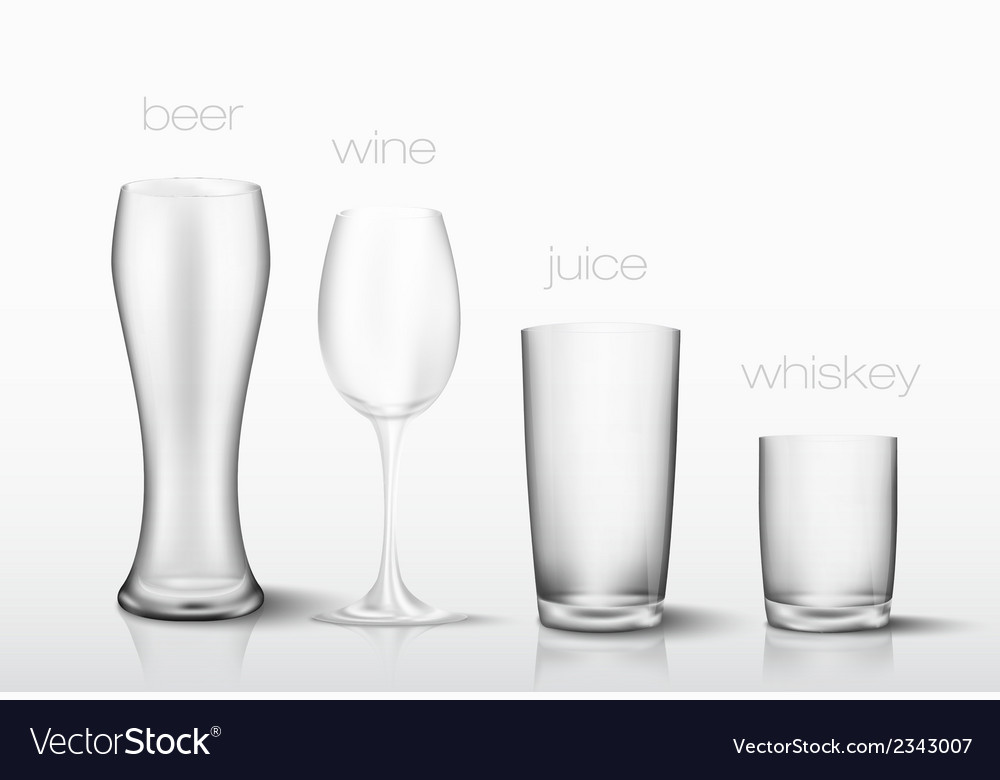 Set of glasses for drinks vector | Price: 1 Credit (USD $1)