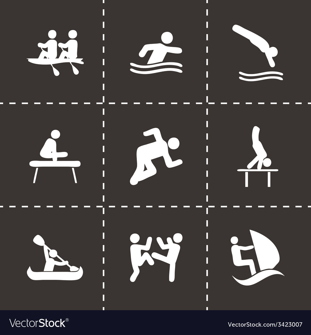 Sport icon set vector | Price: 1 Credit (USD $1)