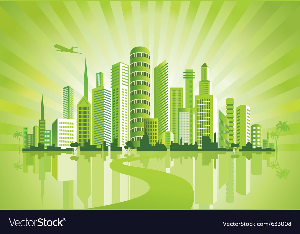 Green city vector | Price: 1 Credit (USD $1)