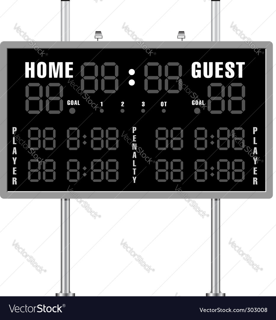 Home and guest scoreboard vector | Price: 1 Credit (USD $1)