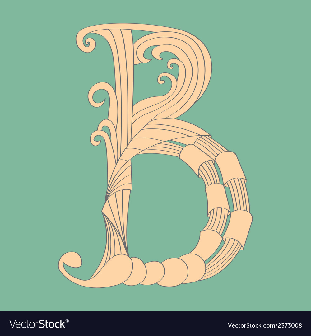Letter b - script vector | Price: 1 Credit (USD $1)